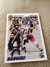 Mike Gartner HOF VINTAGE HAND SIGNED 1991 Upper Deck Card w/COA