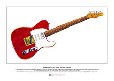 Muddy Waters Fender Telecaster guitar Limited Edition Fine Art Print A3 size