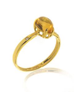 Bliss By Damiani 18k Yellow Gold Diamond & Citrine Ring Sz6.25 20069642 MSRP$670