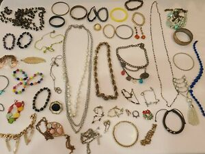 48 PC JUNK DRAWER JEWELRY LOT ***FREE SHIPPING***