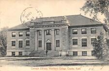Carnegie Library, Washburn College, Topeka, Kansas 1906 Vintage Postcard