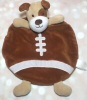 Baby Starters Puppy Dog Football Security Blanket Rattle Spot Brown Tan Lovey