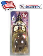 TY Beanie Babies Plush Britannia the bear New In Package 1999 British UK Teddy