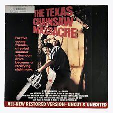 *LASERDISC* The Texas Chainsaw Massacre Uncut Unedited Movie