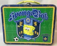 SpongeBob Squarepants-Tin Box/Lunch Box -Soccer-Fullback-Sports -FREE SHIP- RARE