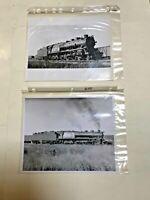Lot of 2 Baltimore & Ohio Railroad Locomotive Train 5360 Vintage Photo B&W Set 3