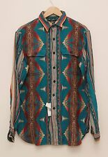 NEW Ralph Lauren RRL DOUBLE RL Men's Indian Prints Long Sleeve Work Shirt M