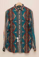 NEW Ralph Lauren RRL DOUBLE RL Men's Indian Prints Long Sleeve Work Shirt M