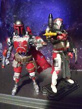 Star wars mandalorian And Hunter Custom 3.75 Black Series 2pack Clone Wars