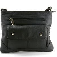 Women's Genuine Leather Handbag Cross Body Bag Shoulder Bag Organizer Mini Purse