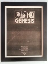 More details for genesis*best band*1978*rare*original*poster*ad*framed*fast world ship