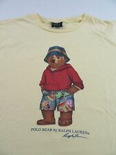 "Vintage Polo by RALPH LAUREN ""POLO TEDDY BEAR IN SHORTS"" SS T Shirt Size L"