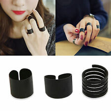 Lots 3PCS Punk Womens Stack Plain Above Knuckle Ring Midi Finger Rings Set