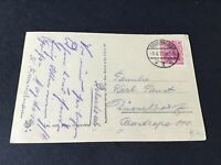 Germany Godesberg 1922 used stamps post  card Ref R32044