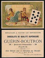 Chromo Guérin-Boutron - Jeu de Cartes - Neuf de Pique