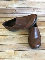 Earth Veronica Clogs Size 7 M Womens Brown Slip On Shoes Comfort Leather