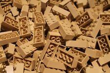 50 x Lego ® Brique/Pierre/Pierres 2x4 (3001) dans Tan/Sable/Beige NEUF