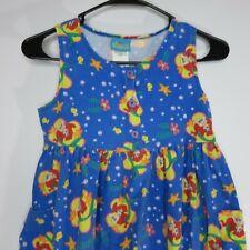 Vintage 90s Ariel Little Mermaid Disney Romper Dress Size 10 Girls Made In USA