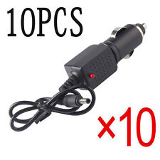 10PCS 3.5mm 12V Travel Car Charger Adapter for Headlamp LED Flashlight Torch