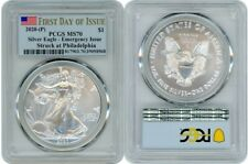 2020 P SILVER AMERICAN EAGLE $1 EMERGENCY PCGS MS70 FIRST DAY OF ISSUE FLAG A145