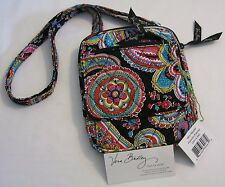 Vera Bradley PARISIAN PAISLEY Mini HIPSTER Wallet CROSSBODY Purse COSMETIC  NWT