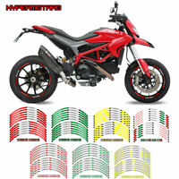 Motorcycle Wheel rim decals tape stripes stickers For DUCATI HYPERMOTARD ALLYEAR