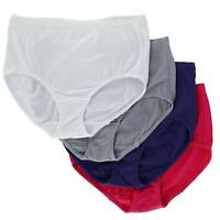 New Fruit of the Loom Women's Breathable Cotton Mesh Briefs Underwear (4 Pair