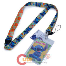 Lilo and Stitch Lanyard Keychain with ID Holder Key Holder