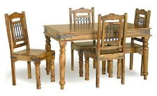 NEW 135CM JALI DINING TABLE/ SHEESHAM IN HONEY COLOUR (TABLE ONLY NO CHAIRS)