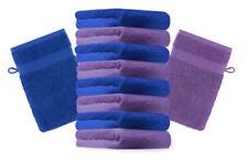 Betz lot de 10 gants de toilette Premium: violet & bleu royal, 16 x 21 cm