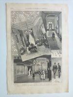 1885 Xilografía: Madrid Detalles Nuevo Teatro de la Princesa