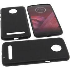 Funda para Motorola Moto Z3 Jugar Funda protectora de móvil TPU GOMA FUNDA NEGRA