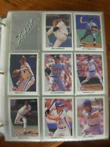 1990 Leaf Baseball Complete Set in Binder + Bonus $.99 No Reserve