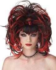 Nero & Rosso Strega Malvagia Strega Halloween Accessorio Costume Parrucca