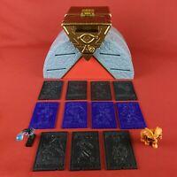 RARE Vintage 1996 Kazuki Takahashi YuGioh Arena Case with 2 Figures 11 Cards