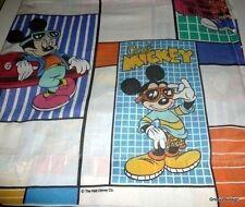 Disney Mickey Mouse Flat Sheet Skateboard Radio Boombox Car Full Size 80's Vtg