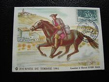 FRANCE - carte 1er jour 14/3/1964 (journee du timbre) (cy92) french