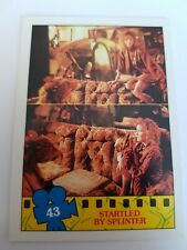 TOPPS 1990 TEENAGE MUTANT NINJA TURTLES MOVIE TRADING CARD # 43
