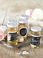 Chalk Board Sticker Labels Floral Party Wedding Favours Vintage shabby Chic x 18