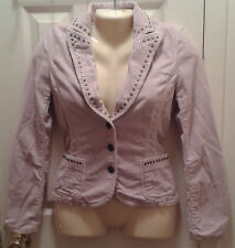 GUESS JEANS AUTHENTIC WOMENS/JRS PINK STUDDED CORDUROY BUTTON UP JACKET SZ. S/P