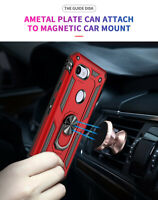 For Google Pixel 3a / 3a XL Magnetic Ring Military Armor Case + Car Phone Holder