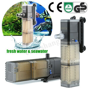 Internal Filter  3 in 1 Submersible Fish Tank Pond Aquarium Oxygen