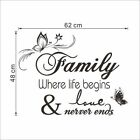 Home Family Blessing Vinyl Wall Decal Wall Quote Decal Home Decor Lettering