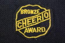 Vintage 1950's CHEERIO BRONZE AWARD 3rd Place Yo Yo Competition Black Felt Patch