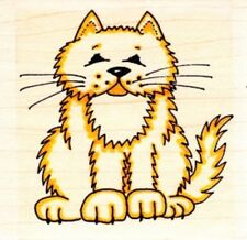 FAT CAT - Wood Mounted Rubber Stamp - Personal Impressions