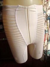 SMALL Vtg Vented Full Panty mesh Panel Girdle Garter Loops HOLLYWOOD VASSARETTE