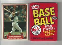 1982 Fleer Carl Yastrzemski #312 Baseball Card + 1 Unopened Wax Pack!