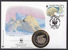 "Russia - "" POLAR BEAR ~ WWF "" PNC / Medal Cover 1987 !"