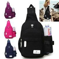 Men Women Crossbody Shoulder Bag Sling Chest Pack Sports Daily Travel Backpack