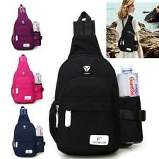 Men Women Crossbody Shoulder Bag Sling Chest Pack Sports Daily Travel Backpack